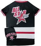 Hockey Pet Jersey and Bandana Combo Black Medium